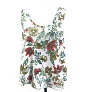 a new day Top White Floral Print XL